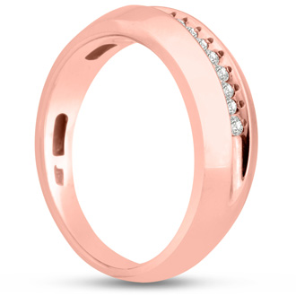 Men's 1/4ct Diamond Ring In 14K Rose Gold, G-H, I2-I3
