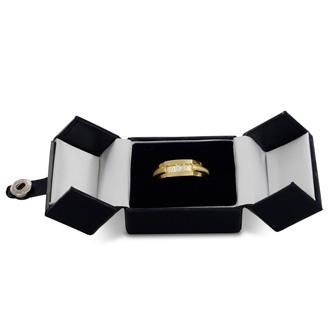 Men's 1/3ct Diamond Ring In 10K Yellow Gold, G-H, I2-I3