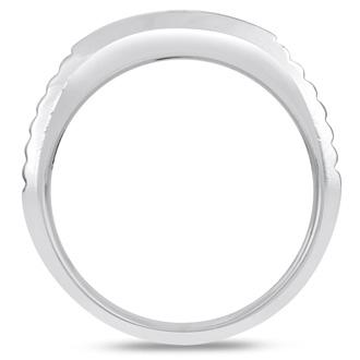 Men's 1/4ct Diamond Ring In 10K White Gold, I-J-K, I1-I2