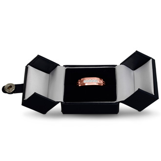 Men's 1/5ct Diamond Ring In 10K Rose Gold, I-J-K, I1-I2