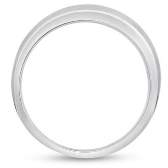 Men's 1/4ct Diamond Ring In 14K White Gold, I-J-K, I1-I2