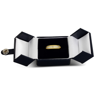 Men's 1/5ct Diamond Ring In 10K Yellow Gold, I-J-K, I1-I2