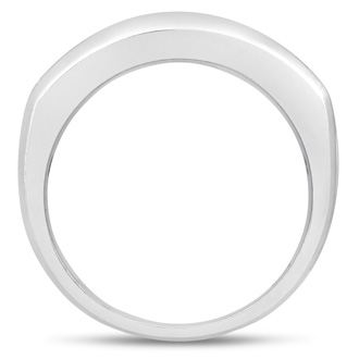 Men's 2/3ct Diamond Ring In 14K White Gold, I-J-K, I1-I2