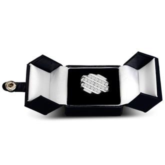 Men's 1 1/4ct Diamond Ring In 10K White Gold, G-H, I2-I3