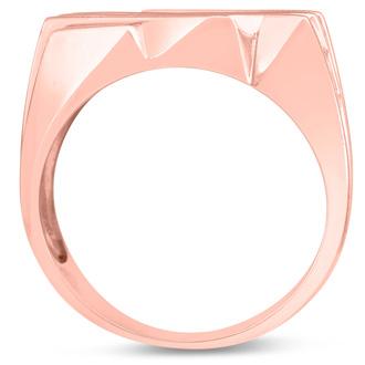 Men's 1 1/4ct Diamond Ring In 14K Rose Gold, G-H, I2-I3