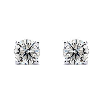 1 1/4ct Diamond Stud Earrings in 14k White Gold,G/H Color I1 Clarity