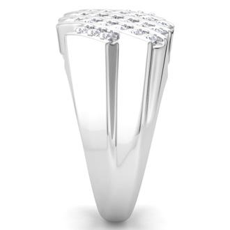 Men's 1/2ct Diamond Ring In 10K White Gold, G-H, I2-I3