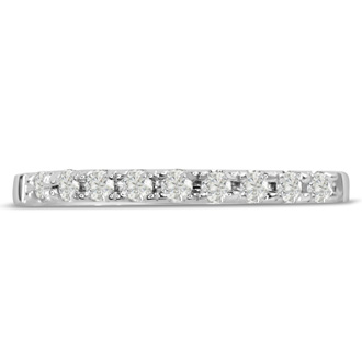 1/4ct Diamond Wedding Band In 14 Karat White Gold