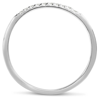 0.05ct Diamond Wedding Band In 14 Karat White Gold