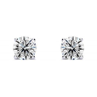 1/2ct E-F Colorless Diamond Stud Earrings in 14k White Gold.  Fiery White Diamonds!  Lowest Price Ever For This Quality!