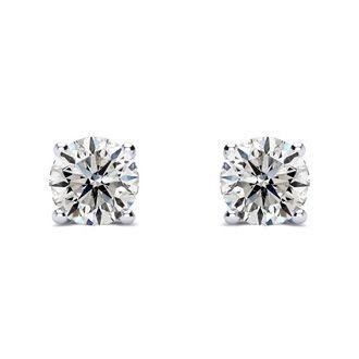 1ct Diamond Stud Earrings in 14k White Gold