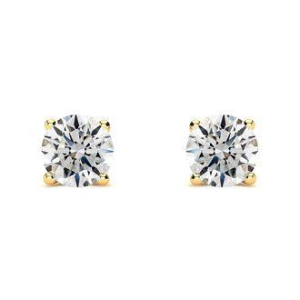 1ct Better Diamond Stud Earrings in 14k Yellow Gold
