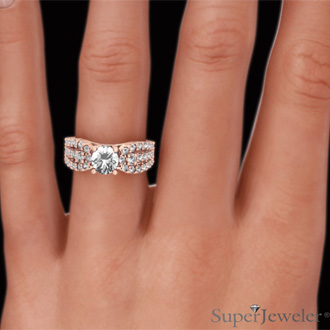 1 1/5 Carat Round Brilliant Diamond Engagement Ring In 14 Karat Rose Gold