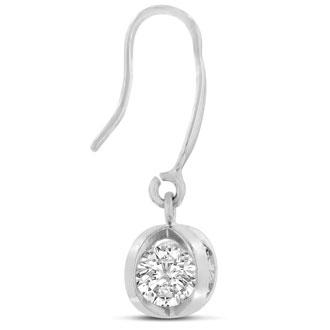 Swarovski Crystal Basket Dangle Earrings, 1 Inch