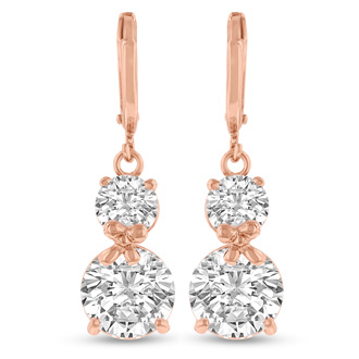 Elegant Swarovski Crystal Hoop Earrings In Rose Gold, 1 Inch