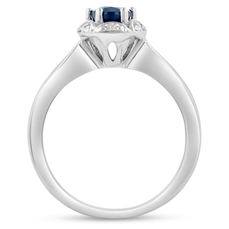 1ct Oval Sapphire and Diamond Ring