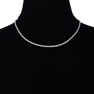 Ladies Stainless Steel 18 Inch Rope Chain