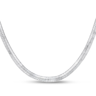 Ladies Stainless Steel 18 Inch Herringbone Chain