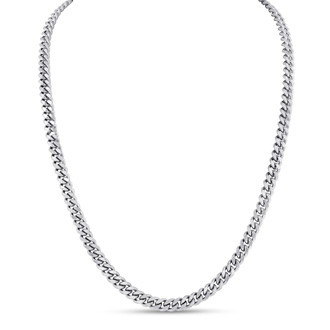 Mens Stainless Steel 20 Inch Curb Chain. Solid and Masculine and The Perfect Length