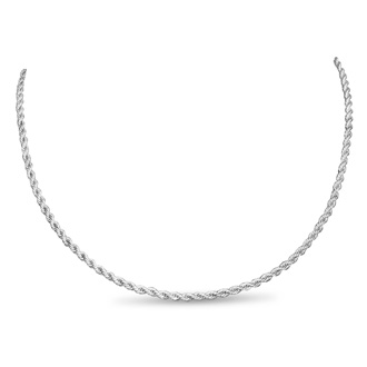 Ladies Stainless Steel 20 Inch Rope Chain