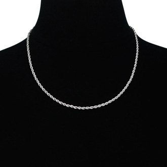 Mens  Stainless Steel 20 Inch Rope Chain. Seriously Solid Chain That Will Last Forever!