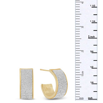 Swarovski Dust Huggie Hoop Earrings