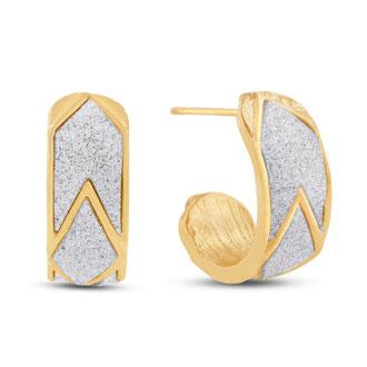 Swarovski Dust Chevron Hoop Earrings