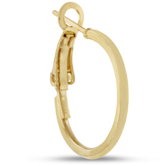 3/4 inch Yellow  Gold Hoop Earrings