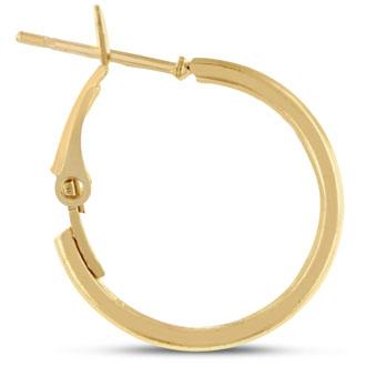3/4 inch Yellow  Gold Hoop Earrings