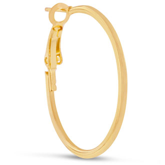 1 inch Yellow Gold Hoop Earrings