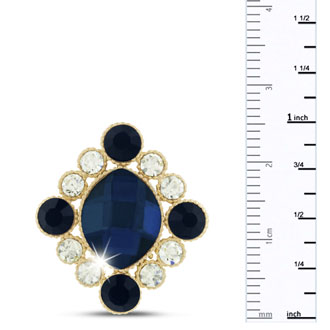 Royal Blue Swarovski Elements Antique Stud Earrings, Pushbacks