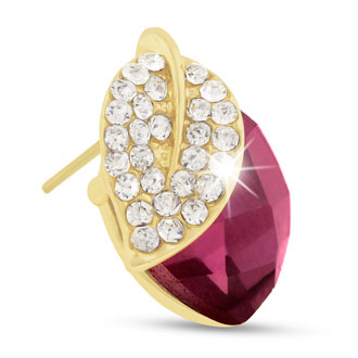Swarovski Elements Pink Crystal Cherry Earrings