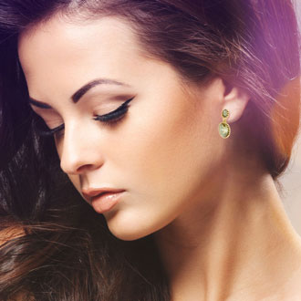 Swarovski Elements Yellow Starburst Earrings