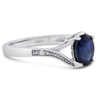 1ct Oval Sapphire Ring