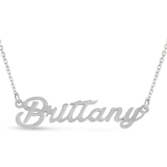 Brittany Nameplate Necklace In Silver