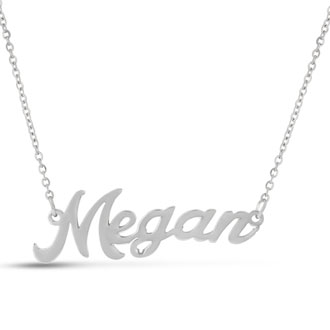 Megan Nameplate Necklace In Silver
