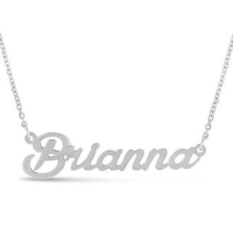 Brianna Nameplate Necklace In Silver