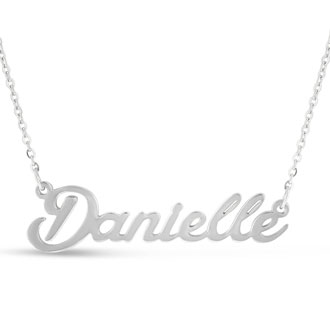 Danielle Nameplate Necklace In Silver