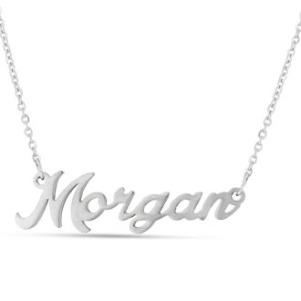 Morgan Nameplate Necklace In Silver