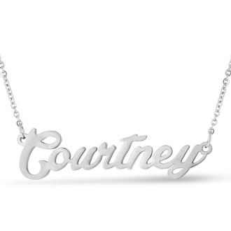 Courtney Nameplate Necklace In Silver