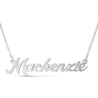 Mackenzie Nameplate Necklace In Silver