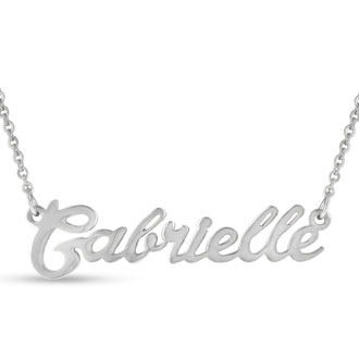 Gabrielle Nameplate Necklace In Silver