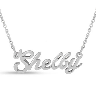 Shelby Nameplate Necklace In Silver