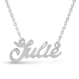 Julie Nameplate Necklace In Silver