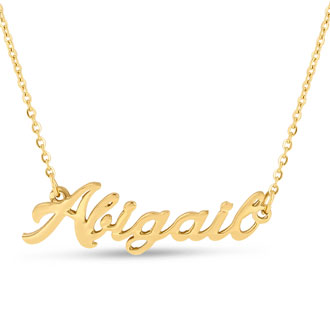 Abigail Nameplate Necklace In Gold