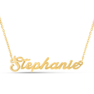 Stephanie Nameplate Necklace In Gold