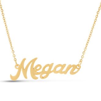 Megan Nameplate Necklace In Gold