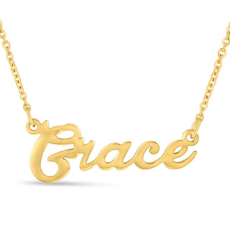 Grace Nameplate Necklace In Gold