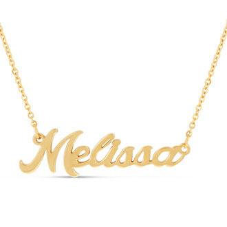 Melissa Nameplate Necklace In Gold