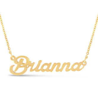 Brianna Nameplate Necklace In Gold